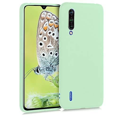kwmobile Funda Compatible con Xiaomi Mi 9 Lite - Carcasa de TPU Silicona - Protector Trasero en Menta Mate