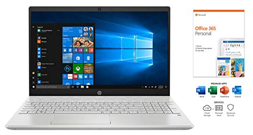 HP Pavilion 15.6' FHD Touchscreen Laptop with Office 365, i5-1035G1, WiFi 6, Camera, IPS, Backlit Keyboard, USB-C, HDMI, Intel UHD Graphics, Win 10 (8GB RAM   512GB PCIe SSD   1TB HDD   Office 365)