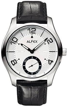 Reloj Alfex 5561/397 de Hombre con Esfera Plateada y Correa de Cuero Negra