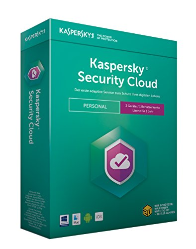Kaspersky Security Cloud Personal Edition 3 Geräte (Code in a Box). Für Windows Vista/7/8/10/MAC/Android/iOs