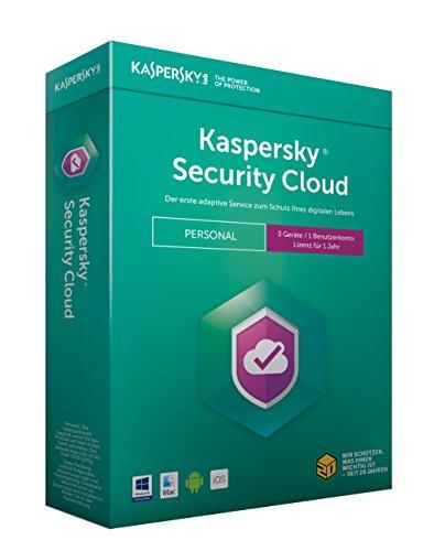 Kaspersky Security Cloud Personal Edition 3 Geräte (Code in a Box). Für Windows Vista/7/8/10/MAC/Android/iOs