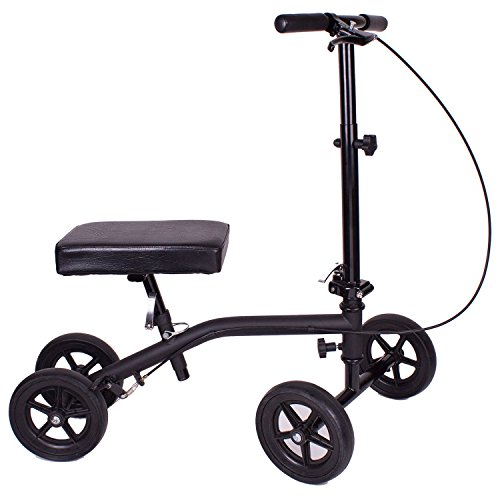 Carex Economy Rolling Knee Walker with Comfortable Padding - Steerable Knee Scooter for Foot Injuries with Hand Brake - Crutch Alternative