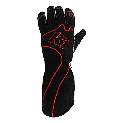 K1 Race Gear RS1 Reverse Stitch Kart Racing Gloves (Red/Black, X-Large) - 13-RS1-R-XL