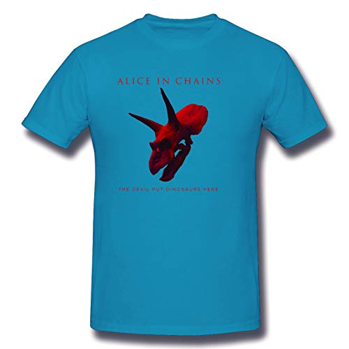 Alice In Chains Devil Put Dinosaurs Here Men's Short Sleeve T-Shirt Rock Summer T-Shirts Spider Baby Blue 5XL