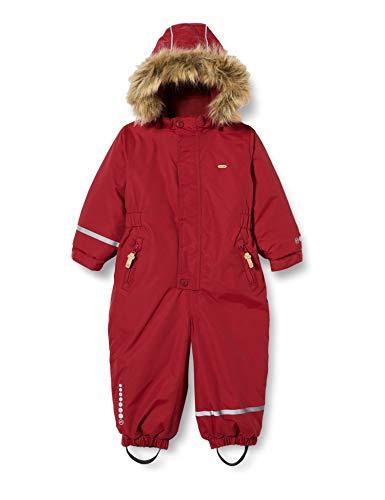 MINYMO Snow Suit Tusser Solid Combinaison de Ski, Rio Red, 86 cm Mixte Enfant