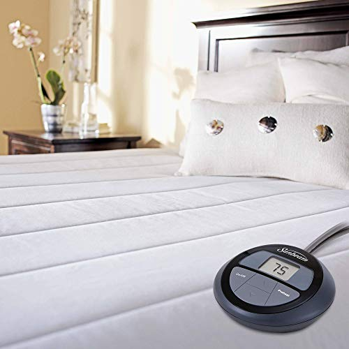 Sunbeam King Heated Mattress Pad, Quilted Construction for Enhanced Comfort with 10 Heat Settings, 10 Hours Auto-Off, 18 inch Deep, 5 Year Warranty, KING