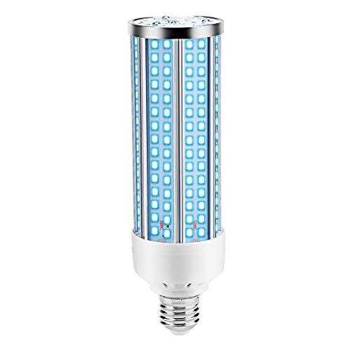 Iwähle UVC Lampe Desinfektion, Germizidlampe 230LED E27 60W LED Desinfektionslicht mit Fernbedienung, Antibakterielle Rate 99% UV Licht Ultraviolet Lampe (1 Lampe)