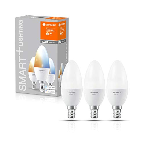 LEDVANCE Ampoule LED | E14 | Blanc dynamique | 2700…6500 K | 5W équivalent à 40W | SMART+ WiFi Candle Tunable White