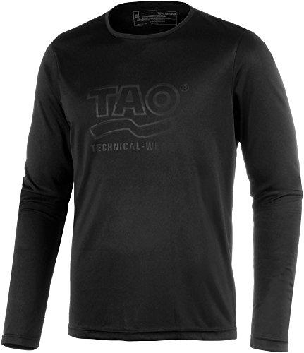 TAO Sportswear Chemise à Manches Longues pour Homme XL Noir