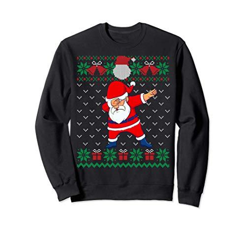 Dabbing Santa, Suéter De Navidad Feo, Navidad Niños Niñas Sudadera