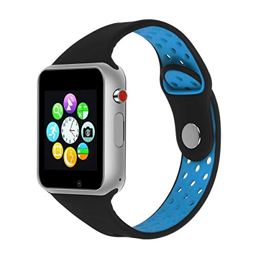 IOQSOF Bluetooth Smart Watch Touch Screen Smartwatch Smart Wrist Watch Fitness Tracker with SIM TF Card Slot Camera Pedometer for Samsung LG iPhone Kids Women Men
