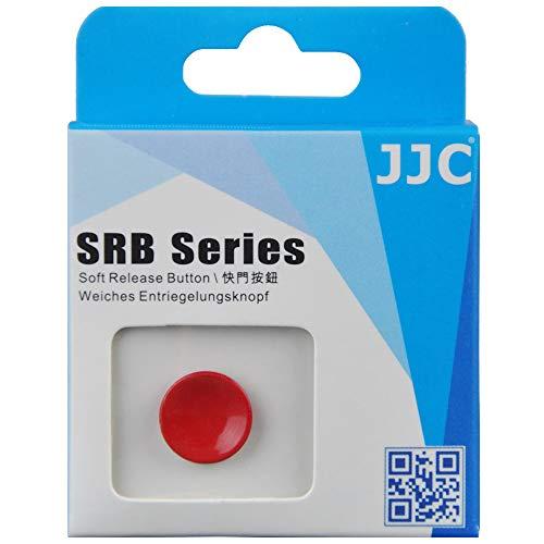JJC SRB Pulsante Di Otturatore per Fujifilm Leica Canon Nikon Sony Rollei Olympus Hassellad (1pc Superficie Concavo) - Rosso