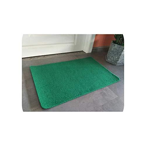 Baby Rug | Solid Color Modern Kitchen Mat Anti-Slip Area Rugs for Living Room Doormat Balcony Tapete Set Bath Bathroom Bedroom Carpet Mats-green-40cmx120cm