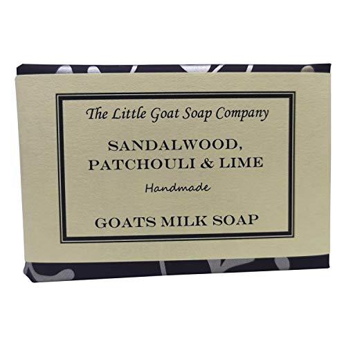 De kleine geit zeep bedrijf sandelhout, patchouli & limoen geiten melk zeep