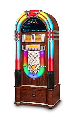 Crosley CR1215A-WA Jukebox, Includes AM/FM Radio & Bluetooth Receiver & CD Player with ST15-WA Stand Included - Walnut
