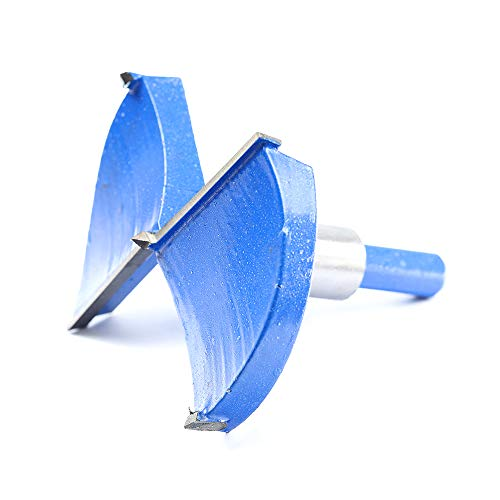 3-9/16 Inch 90mm Forstner Drill Bit Woodworking Hole Saw Wood Cutter,Professional Alloy Steel Wood Drilling Woodworking Hole Boring Bit Power Rotary Cutting Tool (Blue)