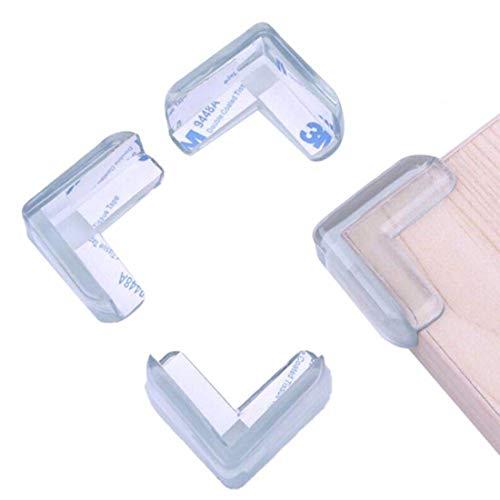 Yolistar Protection Coin de Table, 16 Protections d'angles Transparent avec d Adhesifs 3M, Protection Angles Bébé Transparent, Pour Table et Meubles Pointus, Souple Anti-Chocs Protege de Coins