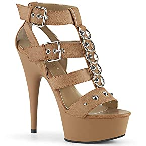 Pleaser Women's Delight-658/BPU/M Platform Sandal
