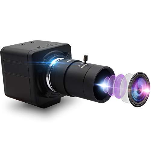 Mermaid 4K USB-Webcam mit 5-50 mm manueller VarioobjektivUSB-Kamera IMX317 Videoüberwachungs-Webkamera für Bildverarbeitung, 3840 x 2160 @ 30 fps USB mit Kamera für 3D-Scanner-VR-Kamera