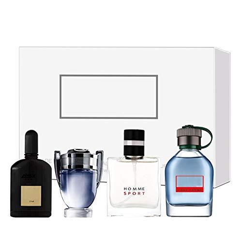 Ensemble de parfum pour hommes, 4 x 25 ml 4 types de parfum pour homme, ensemble de parfum de Cologne, parfum de longue durée, cadeau de Noël pour lui