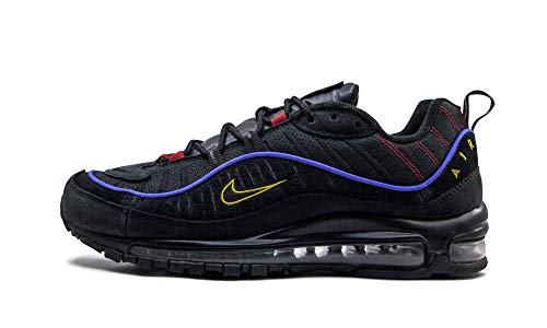 Nike Air Max 98, Chaussure de Course Homme, Black/Black-Amarillo-University Red, 37.5 EU