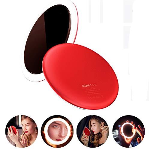 Miroir de Maquillage retardateur avec Anneau Lumineux Tricolore Charge sans Fil pour téléphone Smart Touch Miroir de Maquillage pour Femme Produit lauréat du Prix Red Dot Design Award