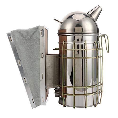 Ahumador de colmena, ahumador de abejas, equipo de apicultura, herramienta, rociador de humo de acero inoxidable con protección térmica