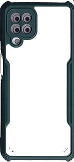 جراب سامسونج جالاكسي M32 / A22 4G صلب ناعم 【شفرة】 غطاء شفاف كريستالي رفيع مضاد للصدمات مزدوج مضاد للسقوط (أخضر)
