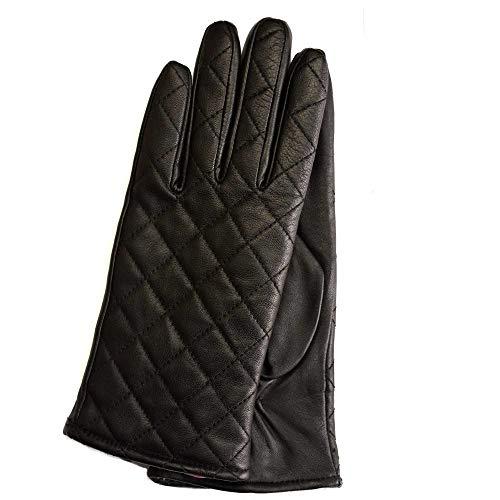 Laimböck leren dames handschoen model Palmi, kleur black/zwart, flame/rood | 25287