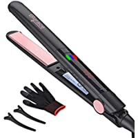 Bigrace Pro 2-in-1 Ceramic Tourmaline Plate Flat Iron Hair Straightener
