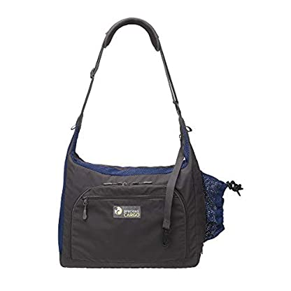 PRECIOUS CARGO Pet Carrier Sling - Charcoal w/Navy 2