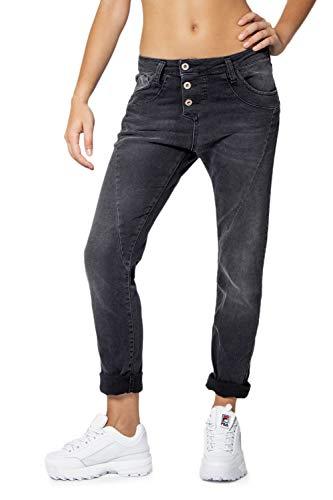Please Damen Jeans Baggy P78A, Baggy, Schwarz XL