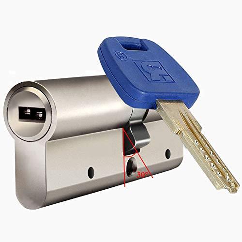 Ltong Veiligheidsdeurcilinder Wit koperen sleutelPoort binnenslotkern, 80 (40knob-40MM)