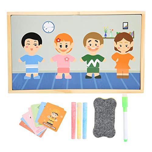 SALUTUYA Pizarra magnética de Madera, Tablero de Dibujo magnético, Material de Primera Clase para la educación Infantil