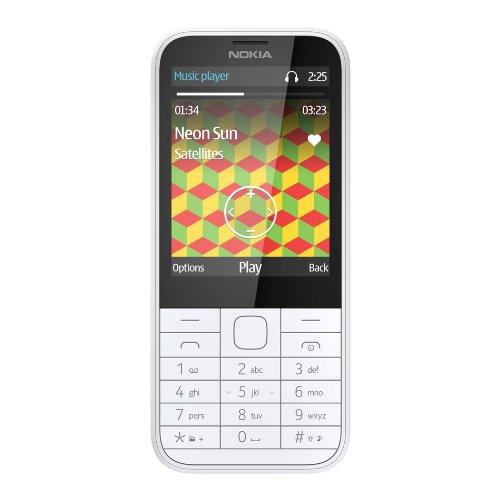 Nokia A00019214 225 Mobiltelefon (7,10 cm (2,8 Zoll) Bildschirm, 2 Megapixel Kamera, Micro-USB 2.0, Bluetooth 3.0, Mini-SIM, UKW-Radio) Weiss