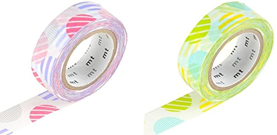 mt Masking Tape Roll - Arch Pink/Green (Pack of 2)