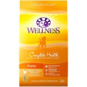 Wellness Natural Pet Food 8962 Complete Health Natural Dry Puppy Food, Chicken, Salmon & Oatmeal, 30-Pound Bag
