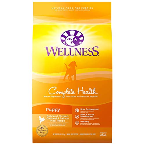 Wellness Natural Pet Food 8962 Complete Health Natural Dry Puppy Food, Chicken, Salmon & Oatmeal,...