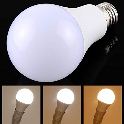 Lichte Bulbs E27 7W 250-600LM Intelligent LED lamp energiebesparing licht met drie kleurtemperatuur, AC 85-250V LED-lampen