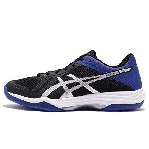 Asics Gel-Tactic, Zapatillas de Tenis para Hombre, Negro (Black Blue/Silver), 40.5 EU
