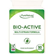 Probiotic 90 Capsules 10 Billion CFU/g source Bio-Active Advanced Multi Strain Formula Veggie Capsules Includes Lactobacillus & Acidophilus |100% Quality Assured Money Back Guarantee| SUPER DEAL PRICE| FREE UK DELIVERY