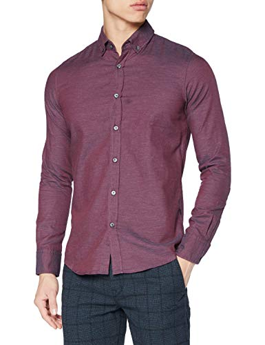 Photo of BOSS Men's Mabsoot_1 Button Down Shirt, Dark Red609, S