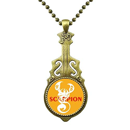 Scorpion Natural Insect Images Halskette Antiker Gitarrenschmuck Musikanhänger