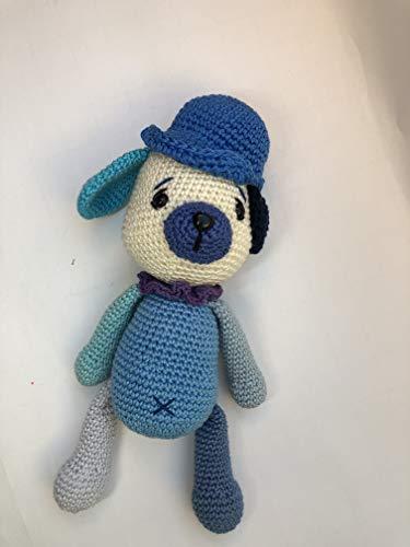 Peluche chien 25cm crochet en coton pour enfant