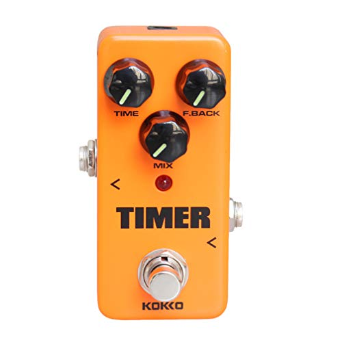 Exceart Delay Effects Pedal Orange Digital True Bypass Mini Effects Pedal Timer for Musical Instrument Guitar Bass Supplies
