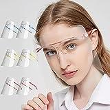 Pantalla Protección Facial Transparente, Face Shield Visor Set con 12 Viseras Antivaho Transparentes Reemplazables y 6 Gafas Reutilizables Adecuadas para Adultos y Niños (A) (a)