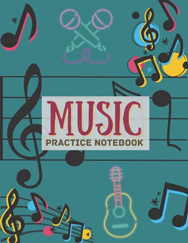 Music Practice Notebook: Violin music practice & assignment notebook for kids ~ Music Lesson Tracking Charts, Record Note & Practice Log Book, For Student Player Adult and Kid