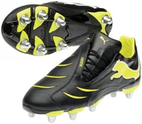 Powercat 2.10 SG Rugby bottes noir jaune - Taille 8 UK