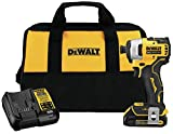 DEWALT DCF809C1 Atomic 20V Max Lithium-Ion Brushless Cordless Compact 1/4 In. Impact Driver Kit W/ 1...