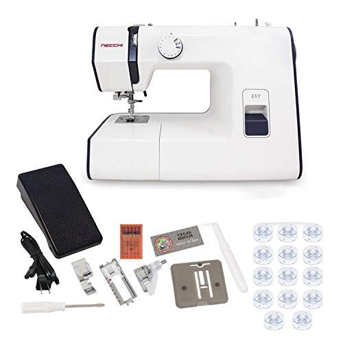 Necchi EV7 Mechanical Sewing Machine with Exclusive Bonus...